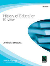 History of Education Review Journal